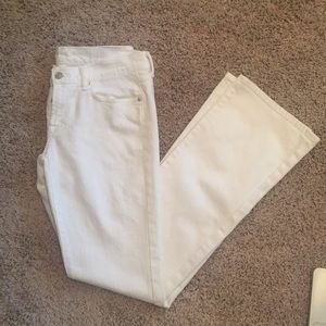 Seven for All Man Kind White Bootcut Women's Jeans